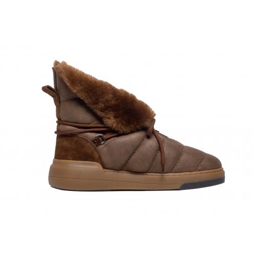 Рыжие зимние ботинки Casadei