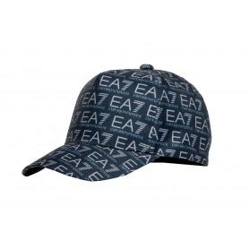 Кепка мужская EA7 черная в лого