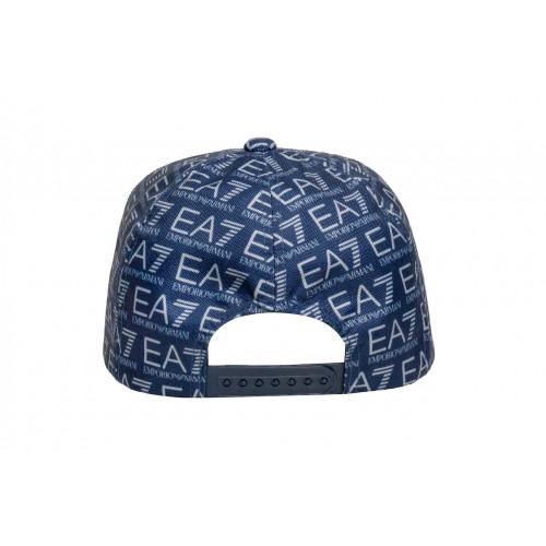 Кепка мужская EA7 синяя в лого