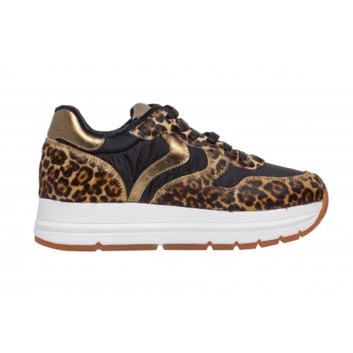 Леопардовые женские кроссовки Voile Blanche