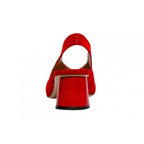 Красные замшевые слингбеки Halmanera