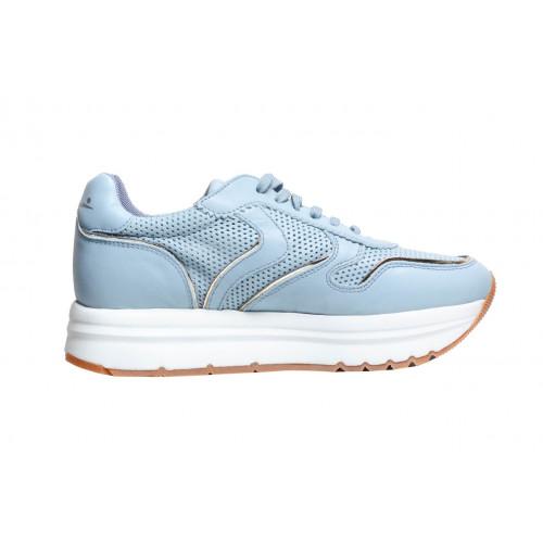 Голубые женские кроссовки Voile Blanche