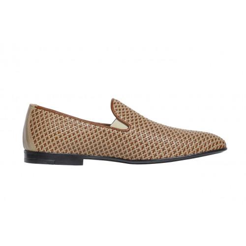 Бежевые плетеные туфли Luca Guerrini