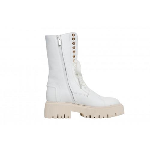 Белые ботинки Helena Soretti на меху